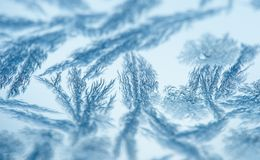 Hoarfrost pattern on glass Stock Photography