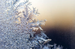 Hoarfrost. In winter day cold  -14C Stock Image