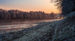 Hoarfrost on a winter morning Royalty Free Stock Photography