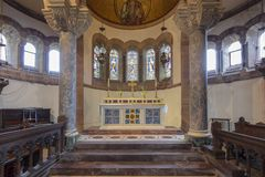 Hoarwithy, Herefordshire, R-U, mai 2019, l'église de St Catherine dans Hoarwithy image stock