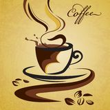 Hoat kaffe stock illustrationer