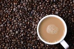 Hoat kaffe i böna Royaltyfria Bilder