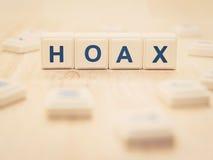 hoax Fotografie Stock