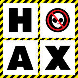 Hoax. This is hoax icon design. Vector file Royalty Free Stock Photography