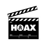 Hoax. This is hoax icon design. Vector file Stock Images