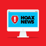 Hoax icon logo Stock Photography