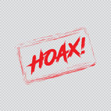 Hoax, Mark for Fake News Stock Image