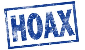 Hoax in red ink stamp royalty free illustration