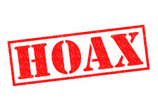 HOAX Rubber Stamp. HOAX red Rubber Stamp over a white background royalty free stock image