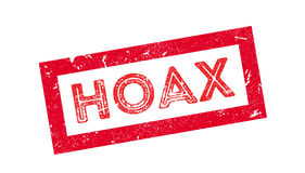 Hoax rubber stamp. Hoax, rubber stamp on white. Print impress overprint royalty free stock photography