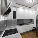 Hob da indução na cozinha fotografia de stock