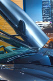 Hob internationaler Automobil-Salon BMW i8 Premiere-Moskaus Tür Teil an Lizenzfreie Stockbilder