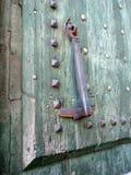 Hob Nails in Wood Door Stock Photos