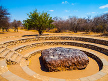 Hoba meteorite. The biggest meteorite on Earth royalty free stock photos