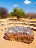 Hoba meteorite found in Namibia. Is the biggest meteorite on Earth stock photo