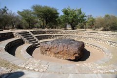 Hoba meteorite. The largest meteorite ever found royalty free stock photography