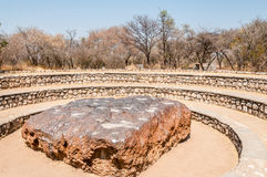 Hoba Meteorite. In Namibian Nature royalty free stock images