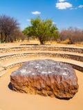 Hoba meteoryt znajdujący w Namibia Zdjęcie Stock