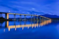 Hobart Bridge Wide Rise Stock Photography