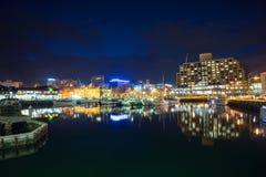 Hobart City At Night Fotografering för Bildbyråer