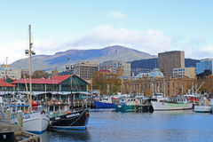 Hobart City View Stock Image