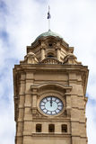 Hobart Clock Tower. The time stopped at noon in Hobart city clock tower Tasmania Stock Photography