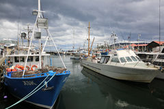 Hobart Harbour with boats Stock Image