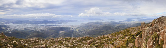 Hobart Mt Wellington 02 pan Royalty Free Stock Image