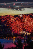 Hobart New Years Eve-Feuer bearbeitet 1 Lizenzfreies Stockfoto