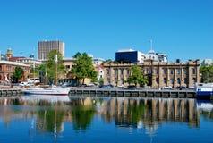 Hobart Tasmania. Victoria Dock area in Hobart, Tasmania, Australia