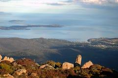 Hobart Tasmania. Hoabrt from Mt Wellington Royalty Free Stock Image