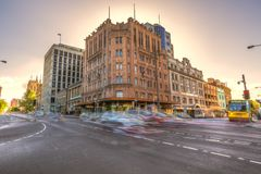 Hobart crossroad traffic Royalty Free Stock Photography