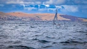 Hobart, Tasmanien und es sind schöne Einfassungen lizenzfreies stockbild