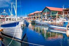 Hobart-, Tasmanien- und itâ€⠄¢s schöne Einfassungen stockfotografie