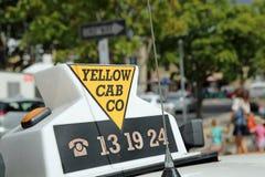 Hobart Taxi royaltyfria foton