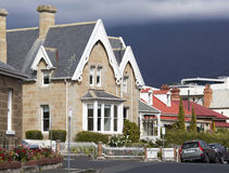 Hobart Town Houses Royalty-vrije Stock Afbeelding