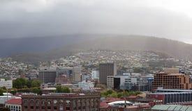 Hobart Town Panorama Lizenzfreie Stockbilder