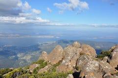 Hobart van het vooruitzicht van MT Wellington. stock afbeeldingen