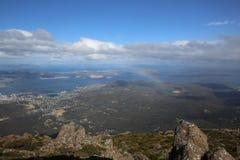 Hobart. View from Mt Wellington to Hobart. Tasmania. Australia Royalty Free Stock Images