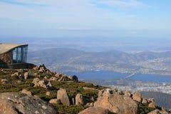 Hobart von der Montierung Wellington, Tasmanien Lizenzfreies Stockbild