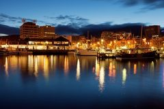 Hobart Waterfront royalty free stock image