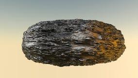 Hobbelig model van een abstracte steen het 3d teruggeven royalty-vrije illustratie