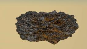Hobbelig model van een abstracte steen het 3d teruggeven stock illustratie