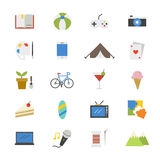 Hobbies and Activities Flat Icons color Stock Images