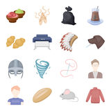Hobbies, entertainment, hobby and other web icon in cartoon style. grizun, jacket, clothes icons in set collection. Stock Photos