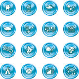 Hobbies and entertainment icon. Icons relating to hobbies and entertainment and pastimes Royalty Free Stock Images