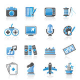 Hobbies and leisure Icons royalty free illustration