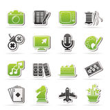 Hobbies and leisure Icons Stock Photos