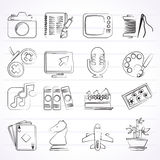 Hobbies and leisure Icons. Vector icon set stock illustration