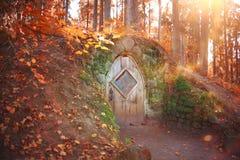 Hobbit房子 库存照片